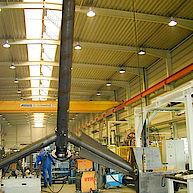 12m² HPCFI-Rührer zum Suspendieren von Aluminiumhydroxyd / 12m³ HPCFI-Impeller for suspending of aluminiumhydroxyd