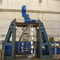 Koaxialrührwerk für Schleif- und Poliermittel / Coaxial agitator for grinding and polishing pastes