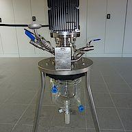 200W Laborrührmaschine mit Glasbehälter / 200W laboratory agitator with glas vessel