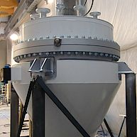 Konusmischer mit Schneckenwendel / Conical agitator with screw helix